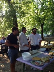 5 Luglio 2013 - Inaugurazione Il taglio della pancetta con Sindaco e Vicesindaco