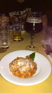Domenica 28 Luglio 2013 - Cena con la birra Pisarei e fasò con La Trappe Dubbel